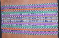 Totonicapan tzute - very decorative with sharp ikat - 1960's or 70's